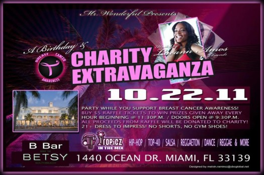 Laeann Amos Breast Cancer Awareness Charity Event Oct 22nd in Miami