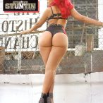 Mizz DR in the latest issue of Straight Stuntin