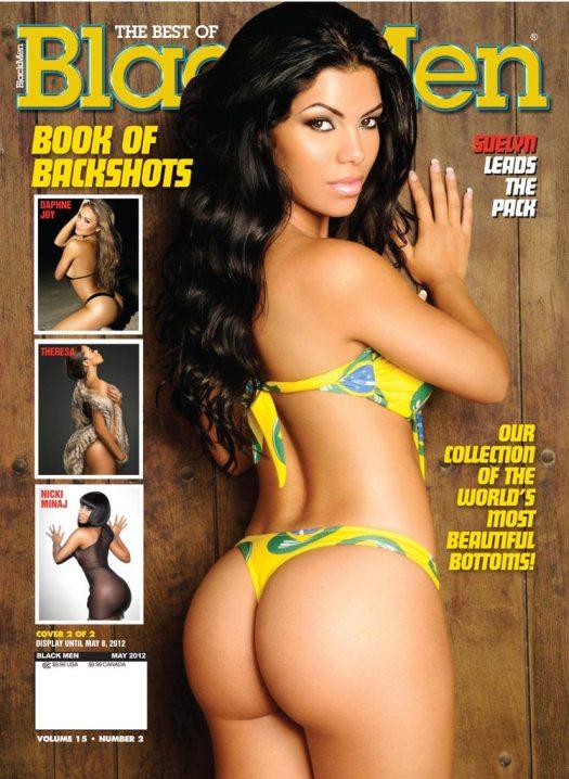 Suelyn Medeiros on the cover of Blackmen Magazine - courtesy of IEC Studios