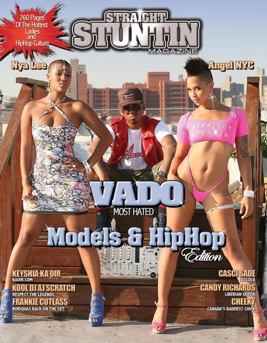 Nya Lee @realnyalee and Angel @AngelReignsNYC on the cover of Straight Stuntin Issue #23
