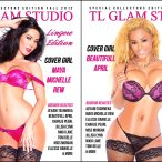 Beautifull April @BeautifullApril and Maya Michelle Rew @MayaMichelleRew on cover of TL Glam Magazine