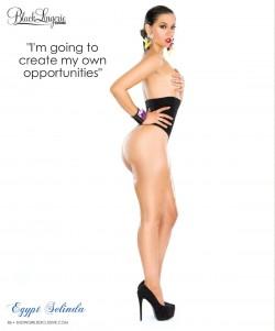Egypt Selinda @EgyptSeLinda in latest issue of Black Lingerie