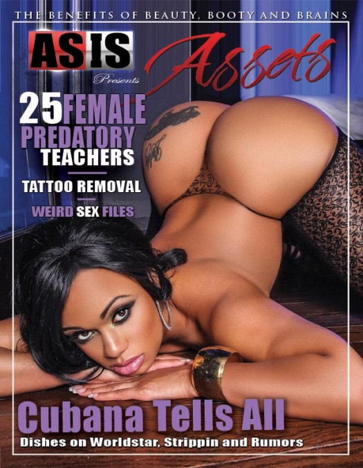 Cubana Lust @cubanalust on cover of Assets Magazine