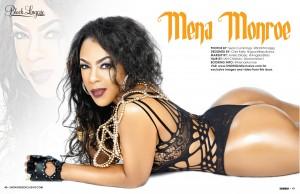 Mena Monroe @MenaMonroe in Black Lingerie #20