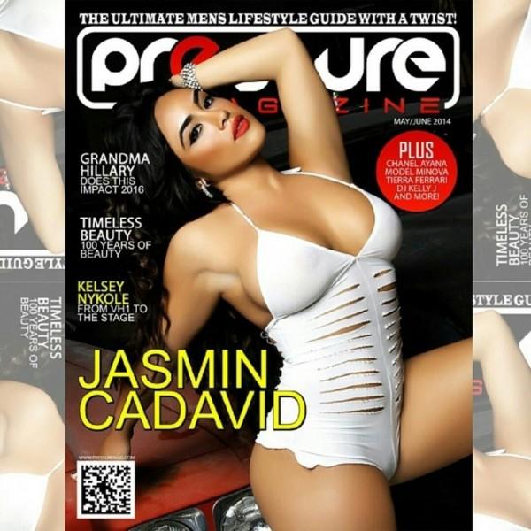 Jasmin Cadavid @jasmincadavid on cover of Pressure Magazine