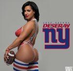 Deseray @its_showtime100: NFL Bodypaint - NY Giants - Jose Guerra