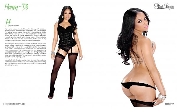 Honey Do @juicy_honey_do  in Black Lingerie 21 - SHOW Magazine