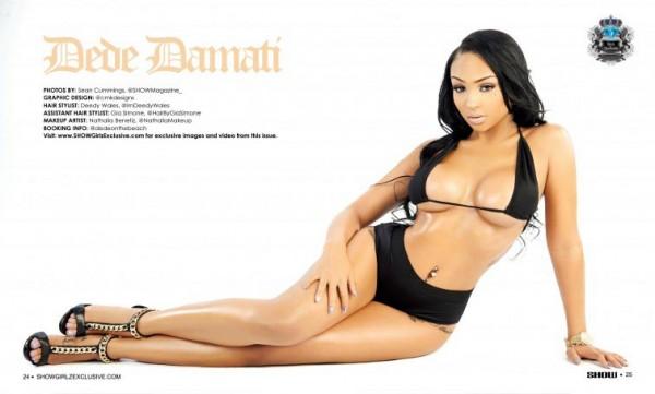 Dede Damati @dedeonthebeach in Black Lingerie #22