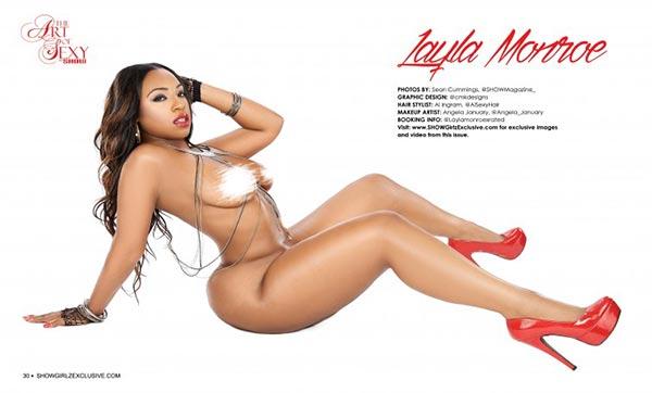 Layla Monroe @Laylamonroexrated in SHOW Magazine - Art of Sexy