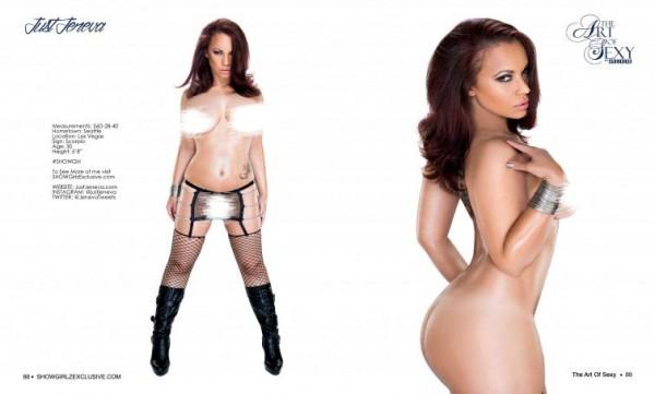 Just Jeneva @justjeneva in SHOW Magazine - Art of Sexy