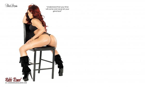 Nikki Renee @nikki.renee in SHOW Magazine Black Lingerie #24