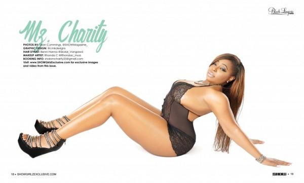 Mz. Charity @_MzCharity_ in SHOW Magazine Black Lingerie #24