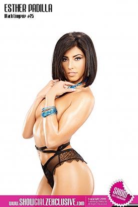 Esther Padilla in SHOW Magazine Black Lingerie