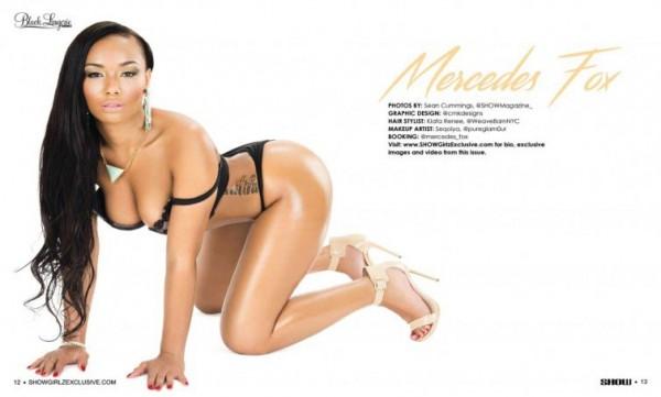 Mercedes Fox in SHOW Magazine Black Lingerie