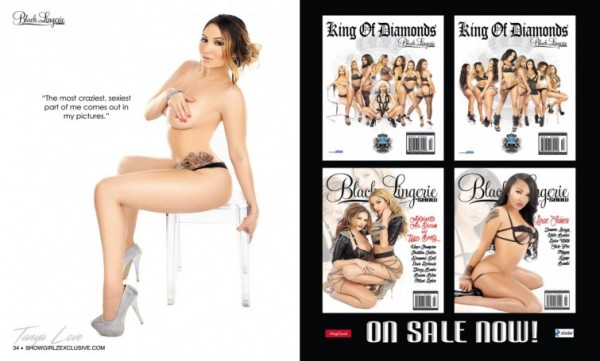 Tanya Love in SHOW Magazine Black Lingerie