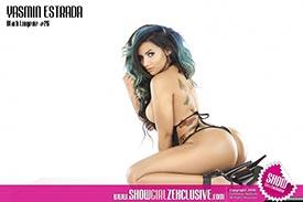 Yasmin Estrada in SHOW Magazine Black Lingerie