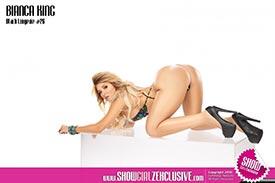 Bianca King in SHOW Magazine Black Lingerie