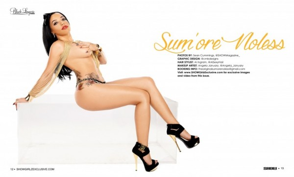 Sumore Noless in SHOW Magazine Black Lingerie