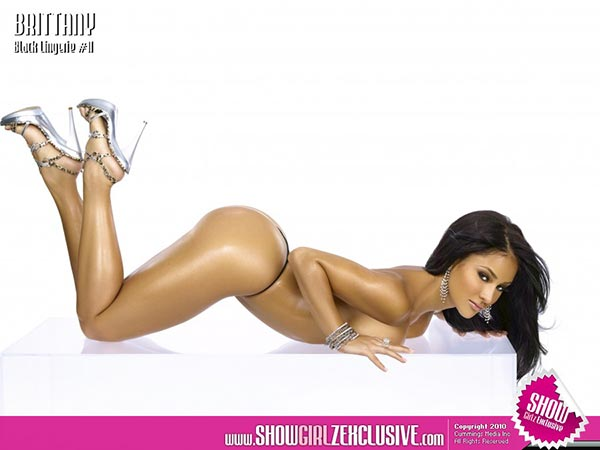 Brittany Dailey in SHOW Magazine Black Lingerie #11