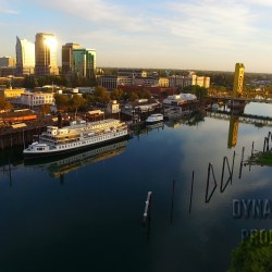 Photo of Sacramento River with Sacramento Skyline and the Tower Bridge