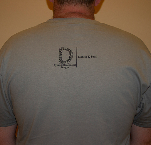 gray t-shirt of fenworth with black and brown lettering