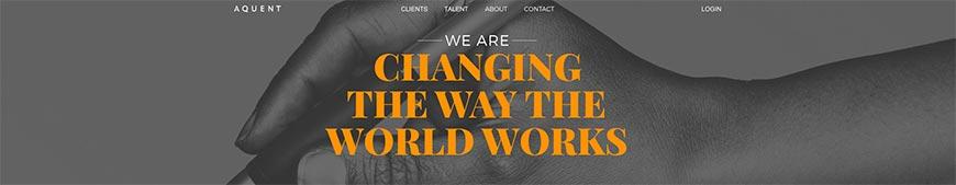 aquent freelance website