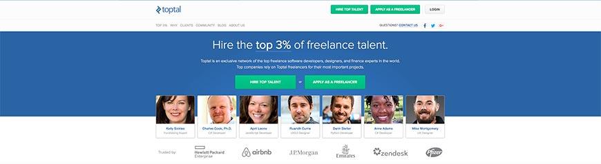 toptal freelance website