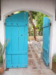 Even the entrance door is artsy