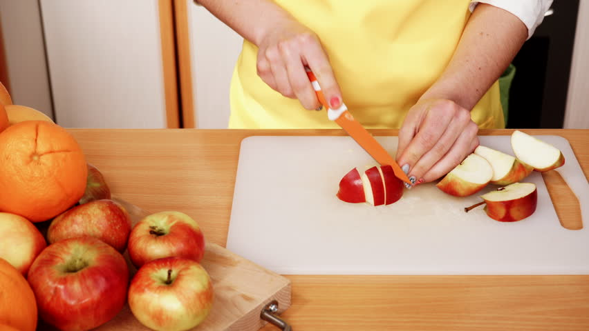 chopping apple