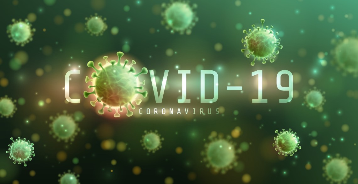 Vector of Coronavirus 2019-nCoV and Virus background with diseas