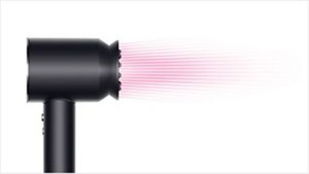 Dyson Supersonic™ hair dryer Black/Nickel with Gentle air attachment
