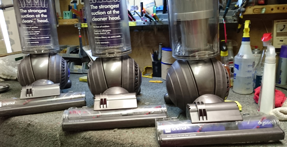 Dyson Animal Bagless Vacuums. Dyson DC65, DC41 recent repairs