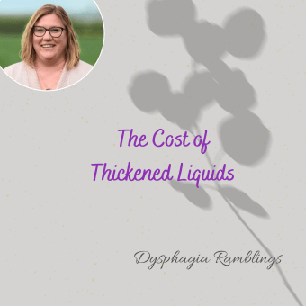 The Cost of Thickened Liquids