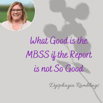 What Good is the MBSS if the Report is Not So Good