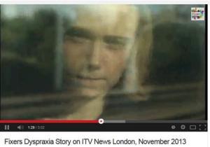 Fixers, dyspraxia sdtory on ITV London November 2013