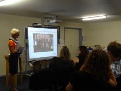 Monika Benson presenting the work of Dystonia Europe.