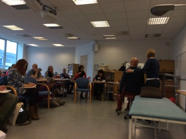 Patient demonstration with Johanna Blom