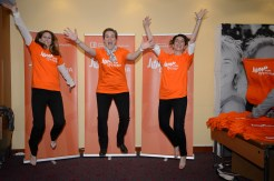 Boston Scientific representatives in a JUMP for DYSTONIA!