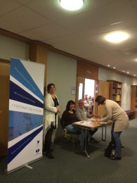 Registration desk welcome with Tove and Torild.