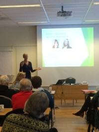 Kjersti Böe talking about coping strategies.