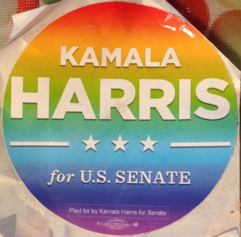 Kamala Harris sticker.