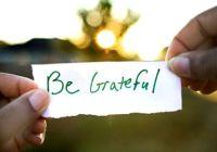 Бути вдячним означає бути щасливим