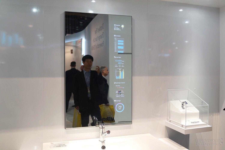 CES Des Concepts Dcrans Miroirs Chez Toshiba Les