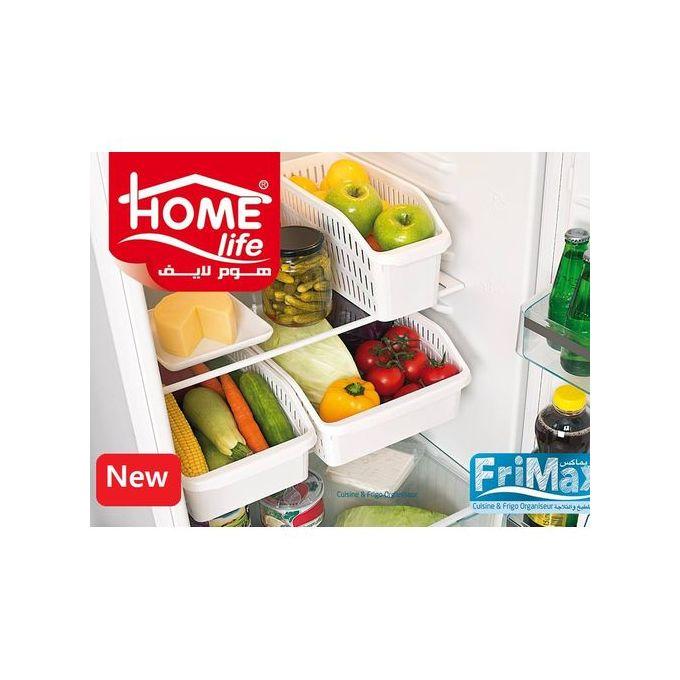 pack 9 bac de rangement cuisine frigo organiseur blanc