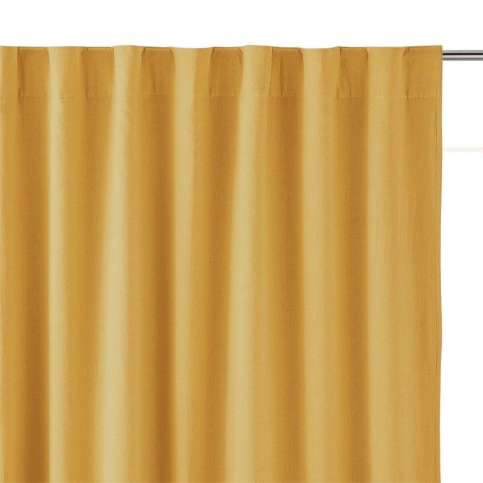 2 panneaux de rideaux occultant a ruflette marron claire 145 x 280