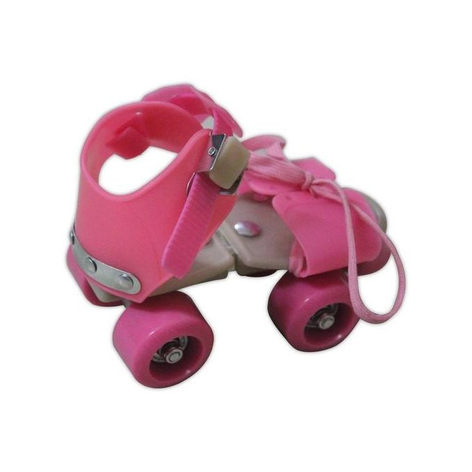 roulettes double rangee 4 roues patinage chaussures coulissantes rose