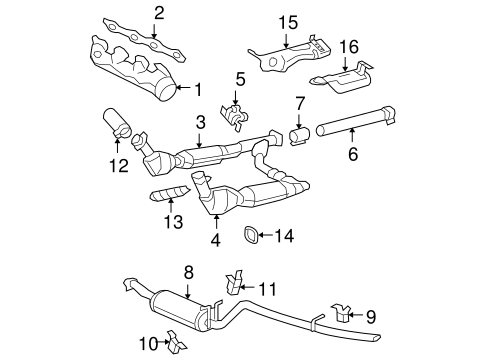 exhaust components for 2007 ford f 150