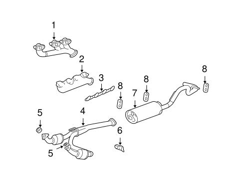exhaust components for 2010 gmc savana
