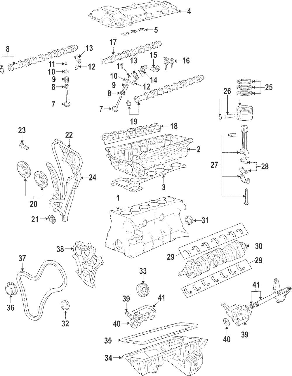 Genuine bmw valve springs 11347563460