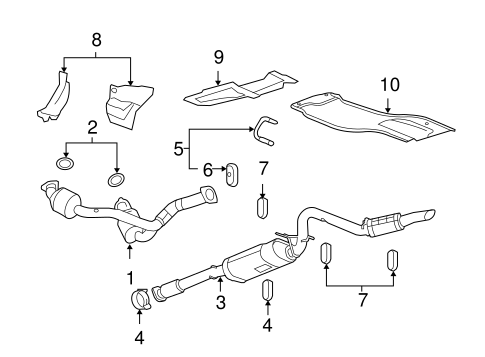exhaust components for 2013 gmc sierra